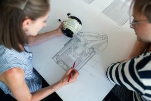 electrical engineer in sketch design process